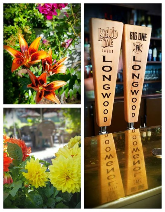 flowers beer collage
